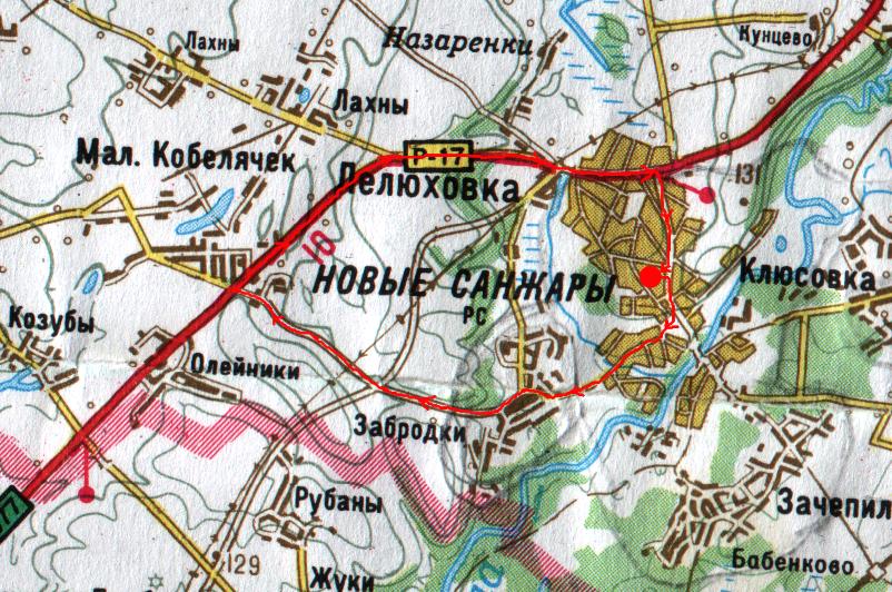 Карта велопрогулянки